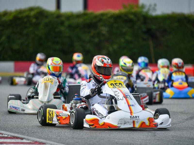 Rashid Al Dhaheri in action in Italy