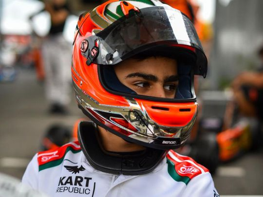 Rashid Al Dhaheri was on the podium in Italy