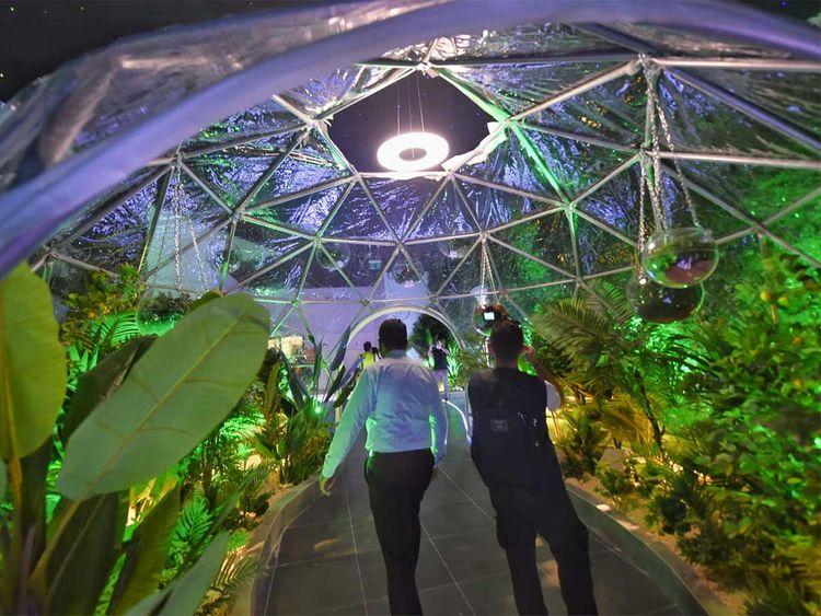 Inside the India pavilion