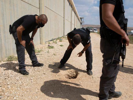 Jail tunnel Israel Palestinians