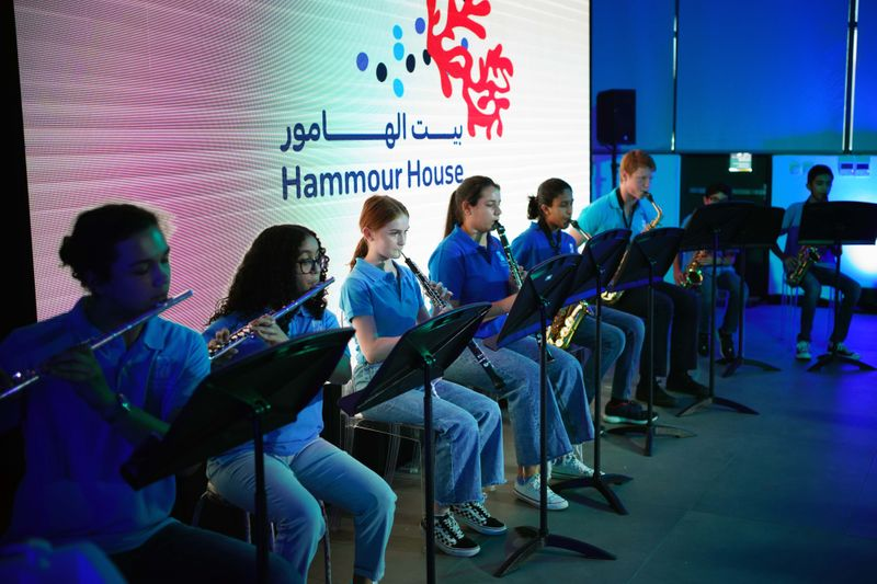 Youngsters perform at the Hammour House event