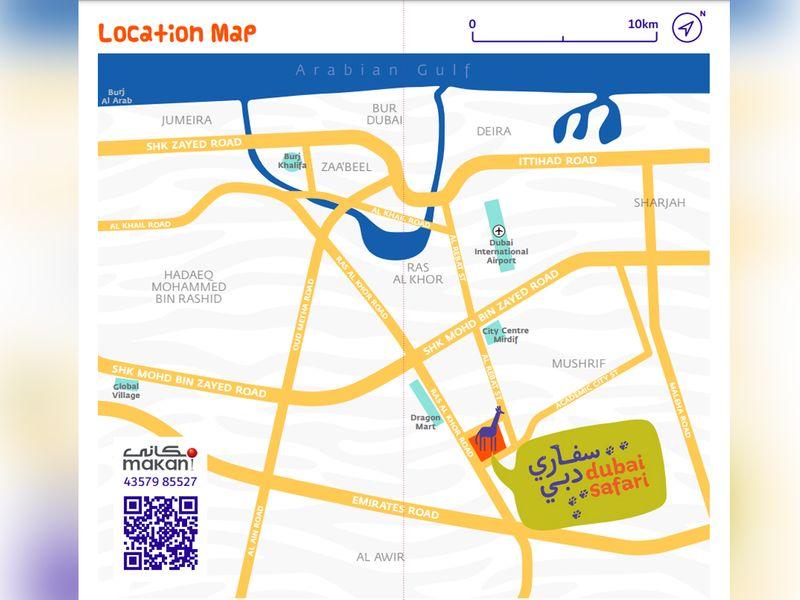 Dubai Safari Park map