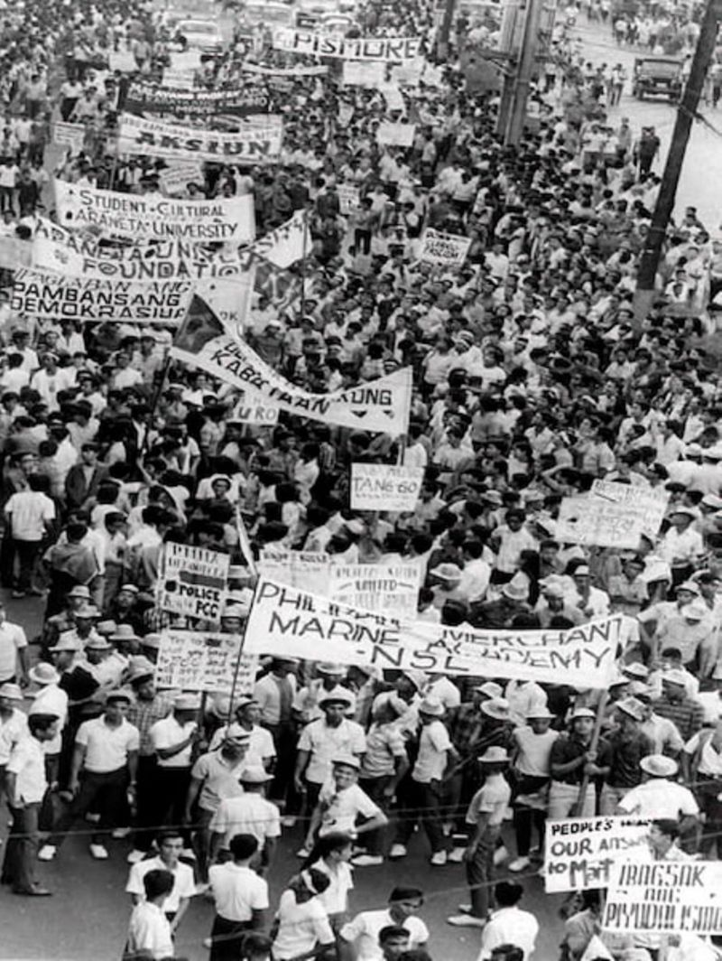 Protest against Marcos