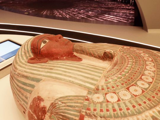 The coffin of priest Psamtik, 'the son of Pediosir'