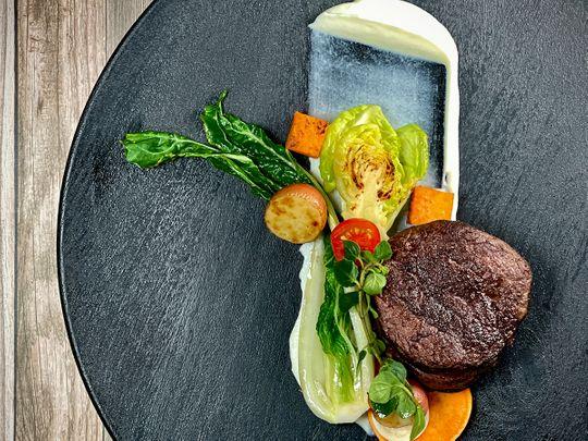 waygu-beef-with-greens-and-cauliflower-mash