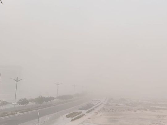 A sandstorm hit Dubai at 5pm on Friday