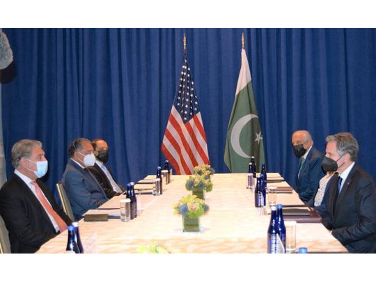 Pakistan's Foreign Minister Shah Mahmood Qureshi shared the view during his meeting with the US Secretary of State Antony Blinken on the sidelines of the UN General Assembly session in New York.