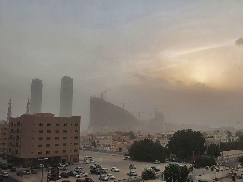 Sand storm oveover Sharjah