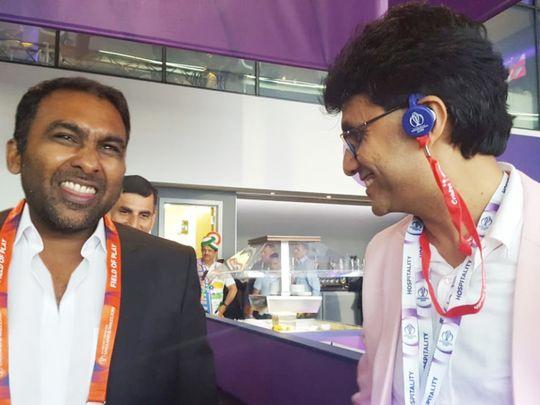 Anis (right) with Mahela Jayawardene