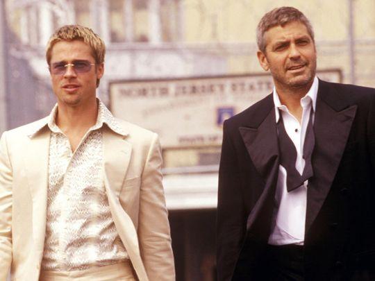 Brad Pitt and George Clooney in 'Ocean's 12'