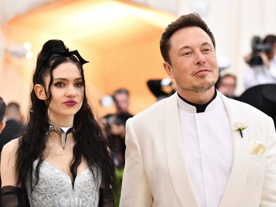 Singer Grimes and Elon Musk