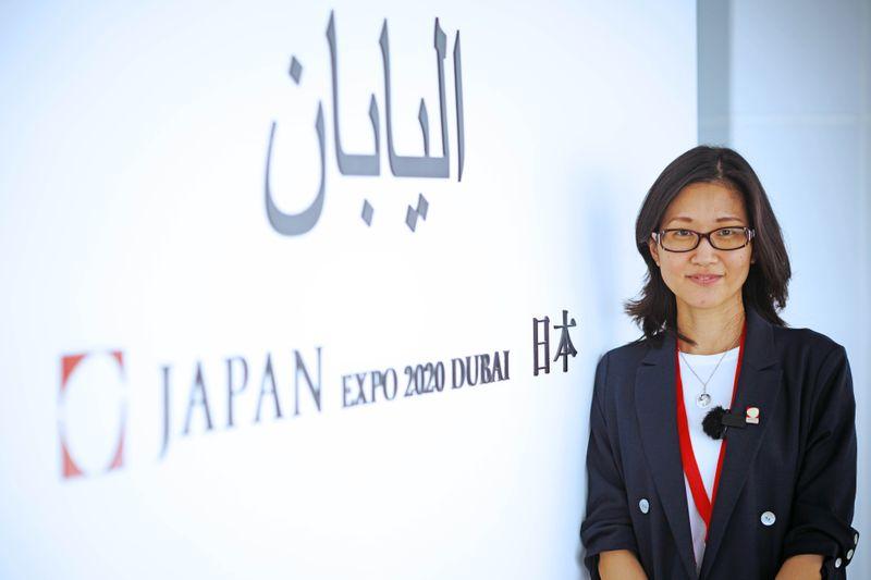 Aiko Yabunaka, the Secreteary General of the Japanese Pavillion