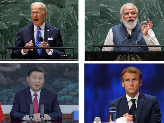 Biden, Xi, Modi, Macron