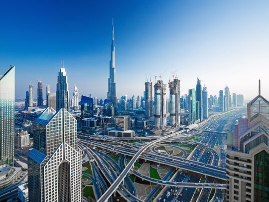 Dubai skyline, Burj Khalifa, Downtown Dubai