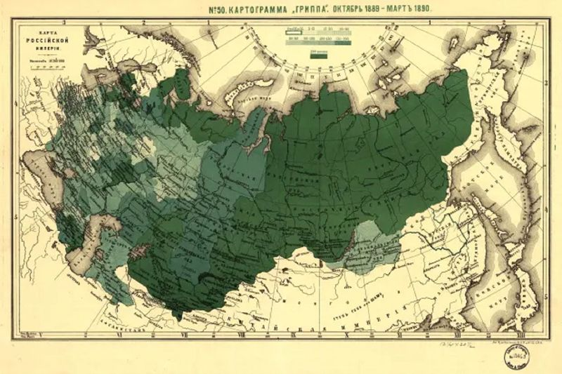 Russian Flu Map
