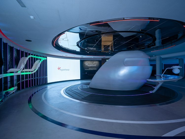 Stock - Virgin Hyperloop at Expo