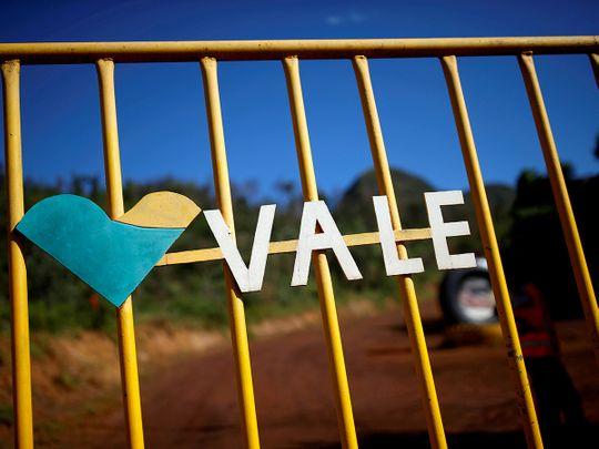 File photo: The logo of the Brazilian mining company Vale SA.