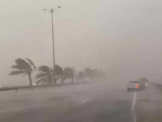 Heavy rain in Al Ain on September 28
