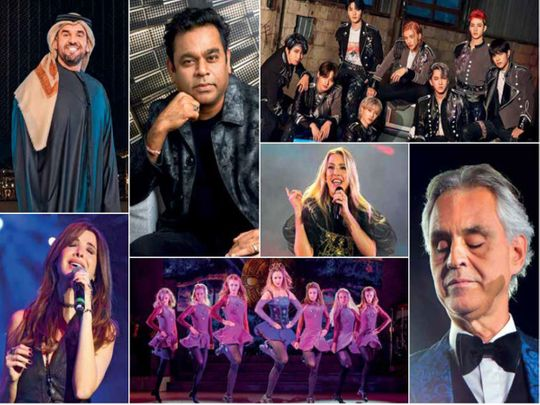 All the artists performing at Expo 2020 Dubai