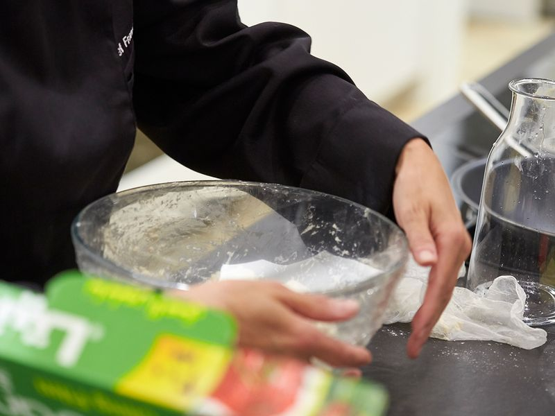 Cover the bowl with a cling film