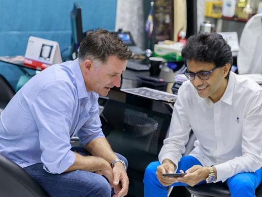 IPL - Anis with Mike Hussey