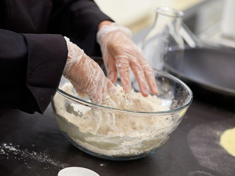 In a bowl add all-purpose flour
