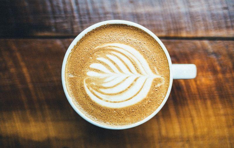 Latte cappuccino art coffee art