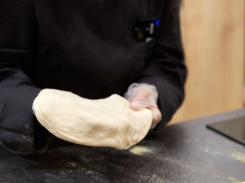 Stretch the dough