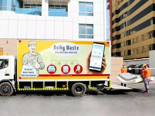 Bulky waste collection service Dubai Municipality