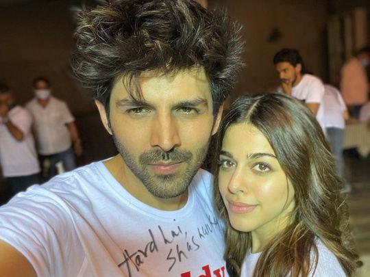 Kartik Aaryan and Alaya F