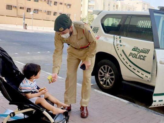 Lt Omar Al Zaabi, an officer at Al Muraqqabat Police Station