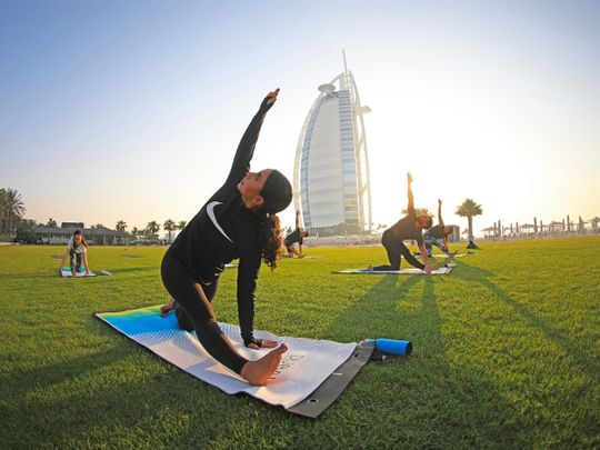 Dubai Fitness Challenge Burj Al Arab Yoga