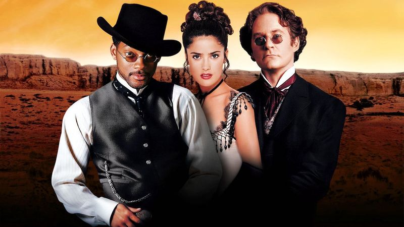 Will Smith in the Wild Wild West along with Salma Hayek and Kevin Kline