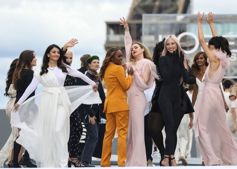 All the celebs walking the ramp for L'Oreal at Paris Fashion Week