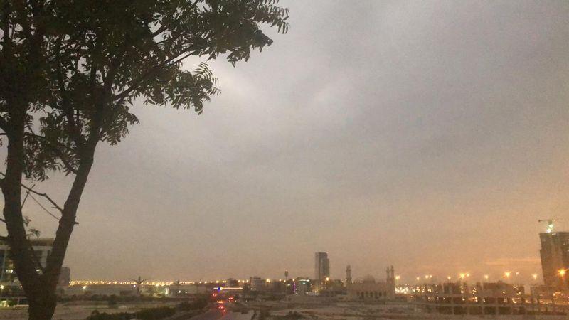 Cloudy skies in Dubai