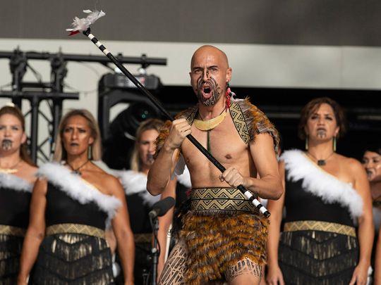 Haka performers at New Zealand Pavilion at Expo 2020 Dubai