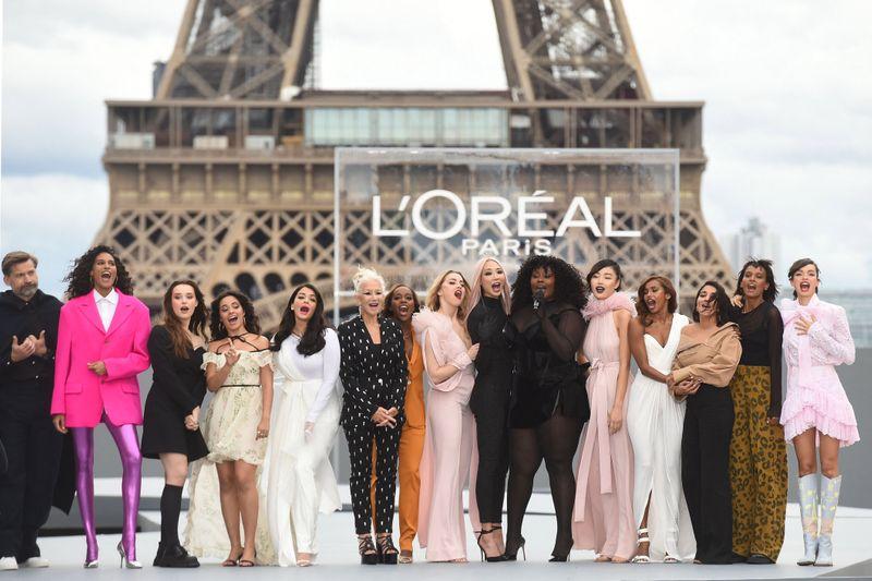 Stars at L'Oreal event at Paris Fashion Week