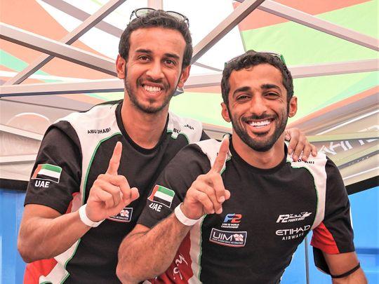Team Abu Dhabi's Rashed Al Qemzi and Mansoor Al Mansoori