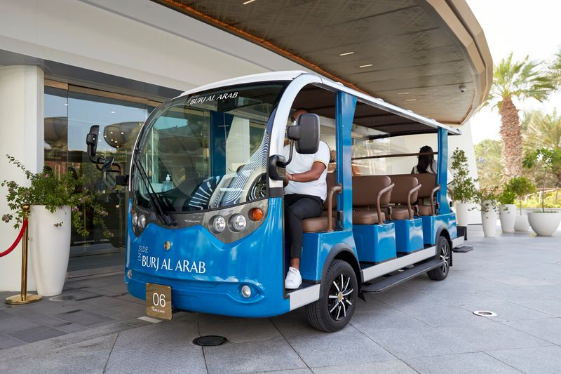 A buggy ride and an extremely polite driver-butler await to drive you to the hotel entrance.