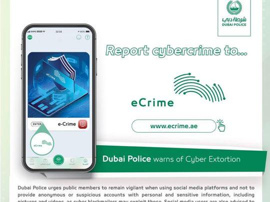 Dubai Police cyber crime poster