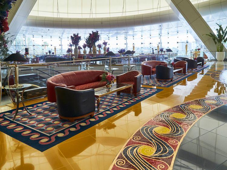 Inside Burj Al Arab Jumeirah lobby