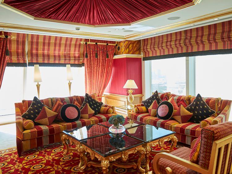 Inside the Royal Suite at Burj Al Arab 1