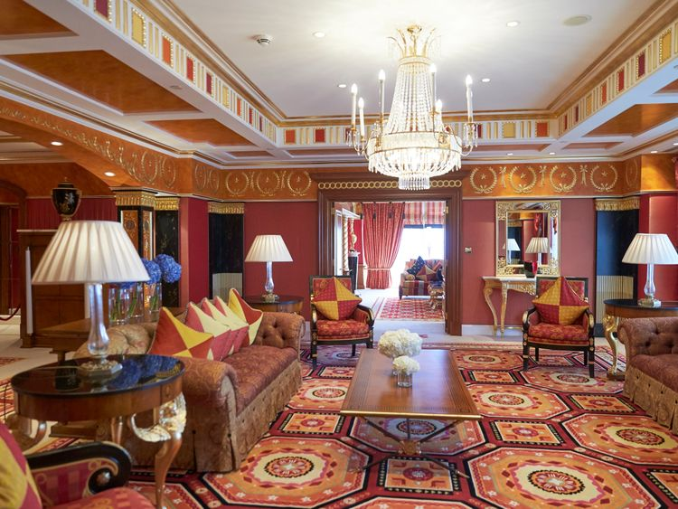 Inside the Royal Suite at Burj Al Arab