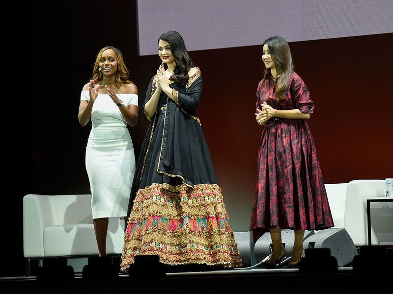 Aja Naomi King, Aishwarya and Aseel Omran