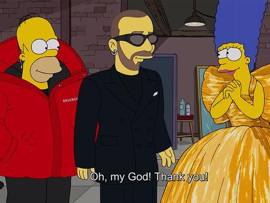 Gulf News The Kurator Balenciaga Red Carpet The Simpsons