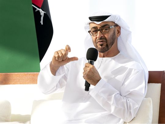 His Highness Sheikh Mohamed bin Zayed Al Nahyan, Crown Prince of Abu Dhabi and Deputy Supreme Commander of the UAE Armed Forces
