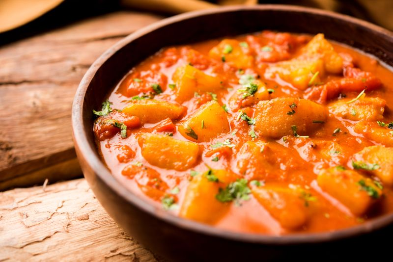 Indian Festive Dish - Aloo and tamatar sabzi