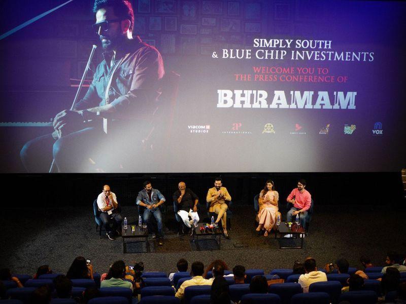 The cast of 'Bhramam' in Dubai