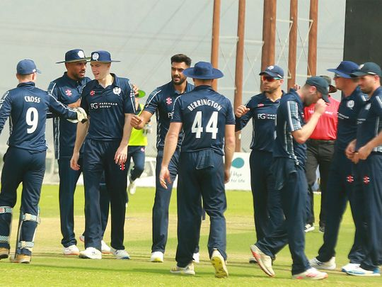 Scotland are training in the UAE ahead of the T20 World Cup