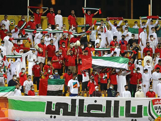 The UAE fans were out in force for the World Cup qualifier against Iran